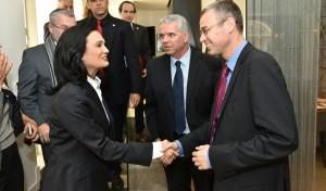 השר לוין בפגישה עם שרת החוץ וסגנית הנשיא של פנמה
