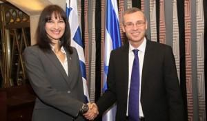 יריב לוין נפגש עם שרת התיירות של ממשלת יוון